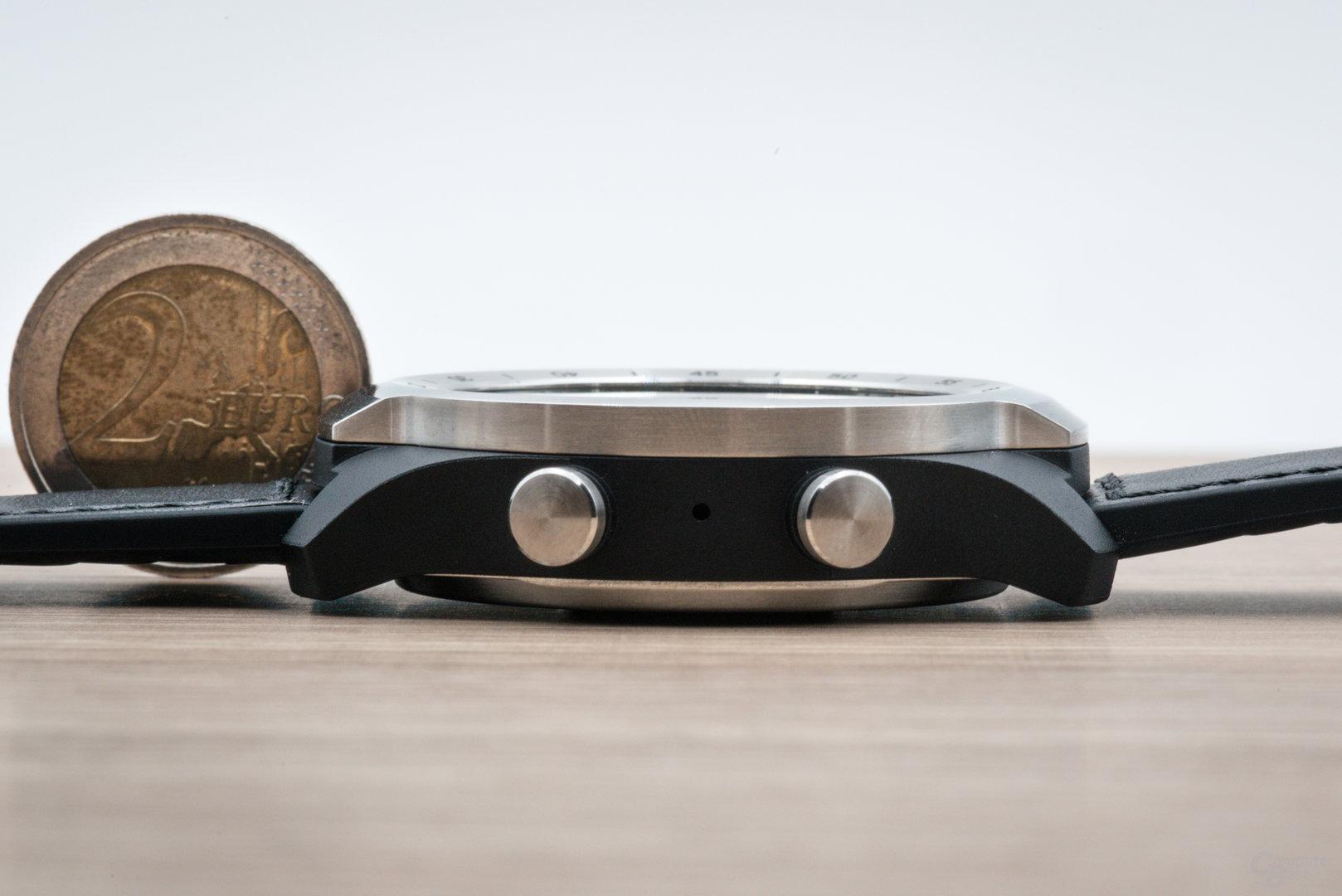 Mobvoi TicWatch Pro: Gehäusehöhe von 15 mm
