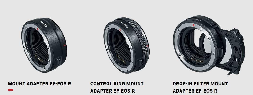 Canon EOS R: Bajonettadapter