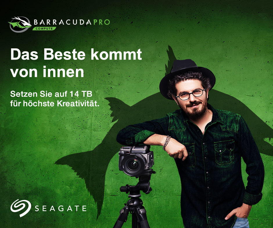 Auch Seagate BarraCuda Pro bietet ab sofort bis zu 14 TB