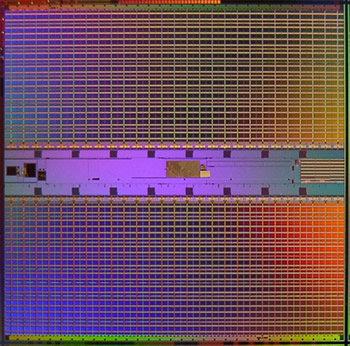 In 65 nm gefertigter 70 Mbit SRAM-Chip