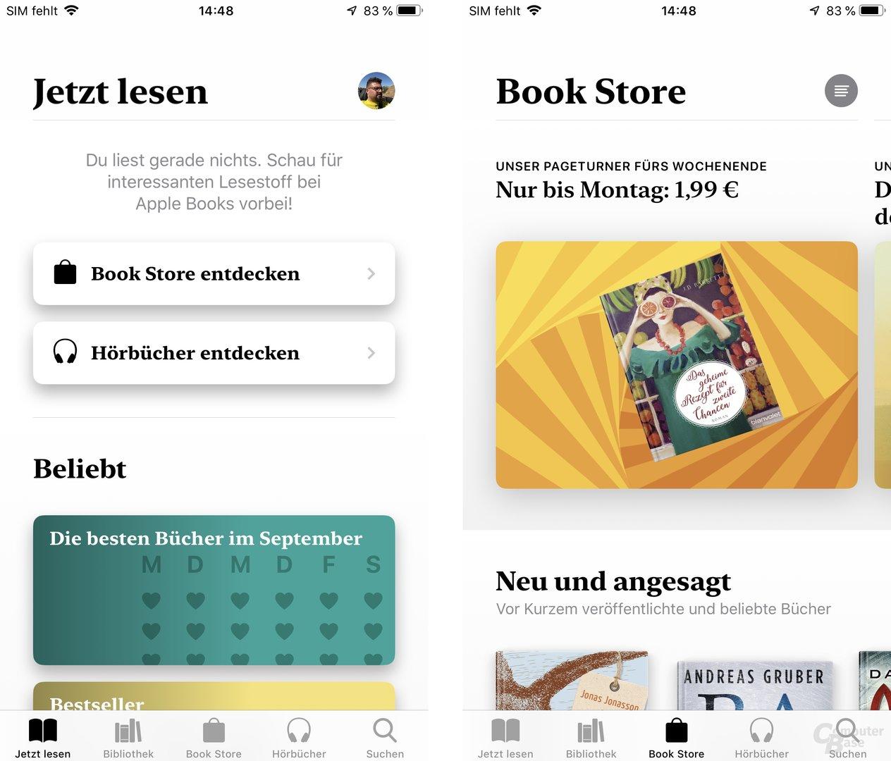 Neue App für Apple Books