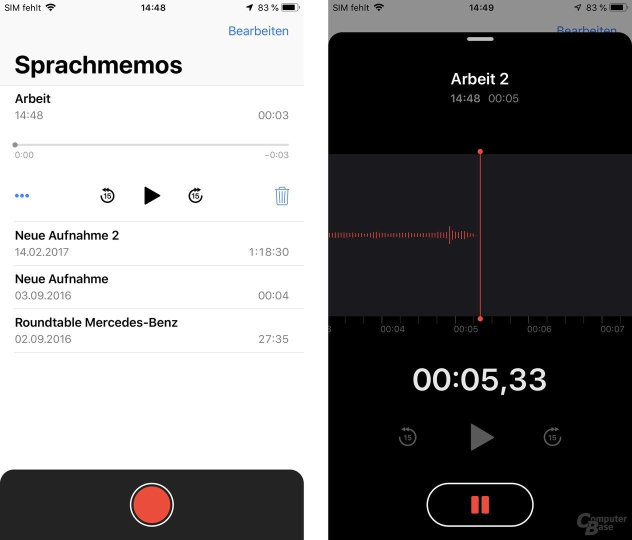 Neue App für Sprachmemos