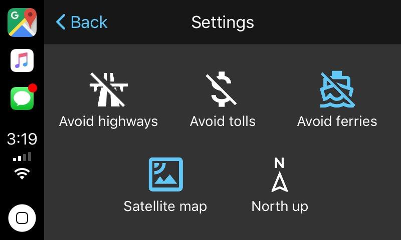 Google Maps für Apple CarPlay