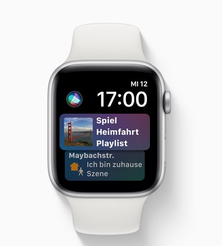watchOS 5: Proaktiveres Siri-Watchface