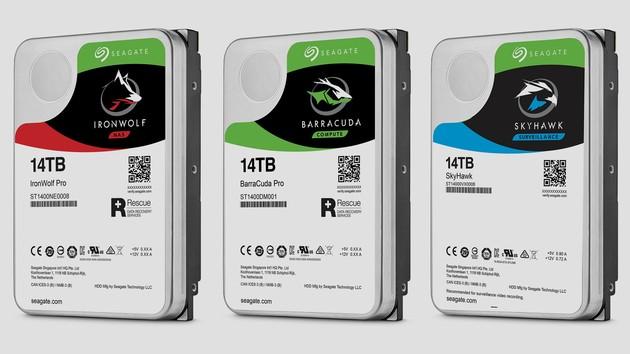 Seagate: HDDs mit 14 TB für Desktop, NAS und Überwachung