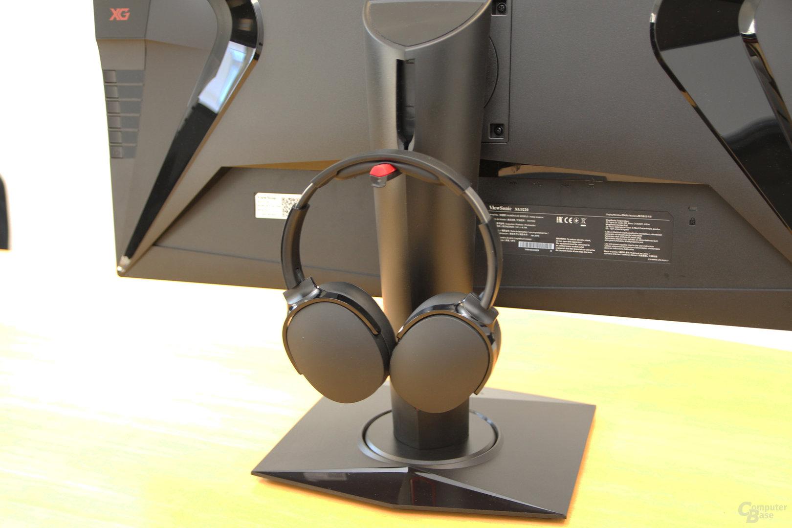 ViewSonic XG3220 – Headset-Halter am Standfuß