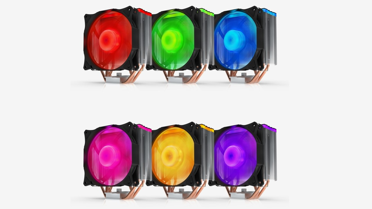 SilentiumPC Fera 3 RGB: Tower-Kühler bleibt trotz breitem Lüfter flach