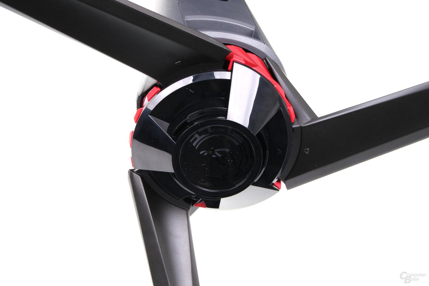 Asus ROG Strix XG35VQ – Cover an der Unterseite des Standfußes