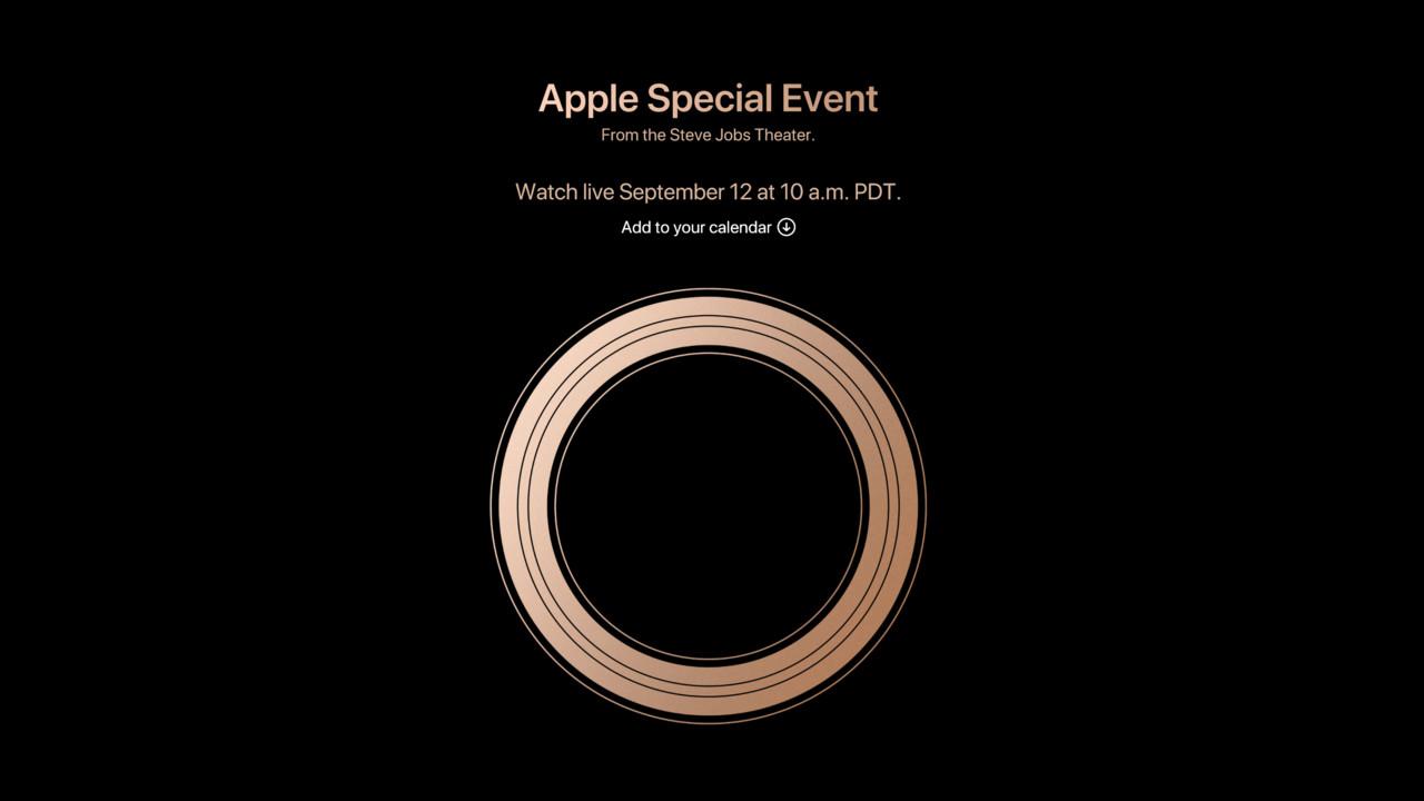 Apple Keynote: iPhone Xs, Xs Max und Xr zur heutigen Präsentation