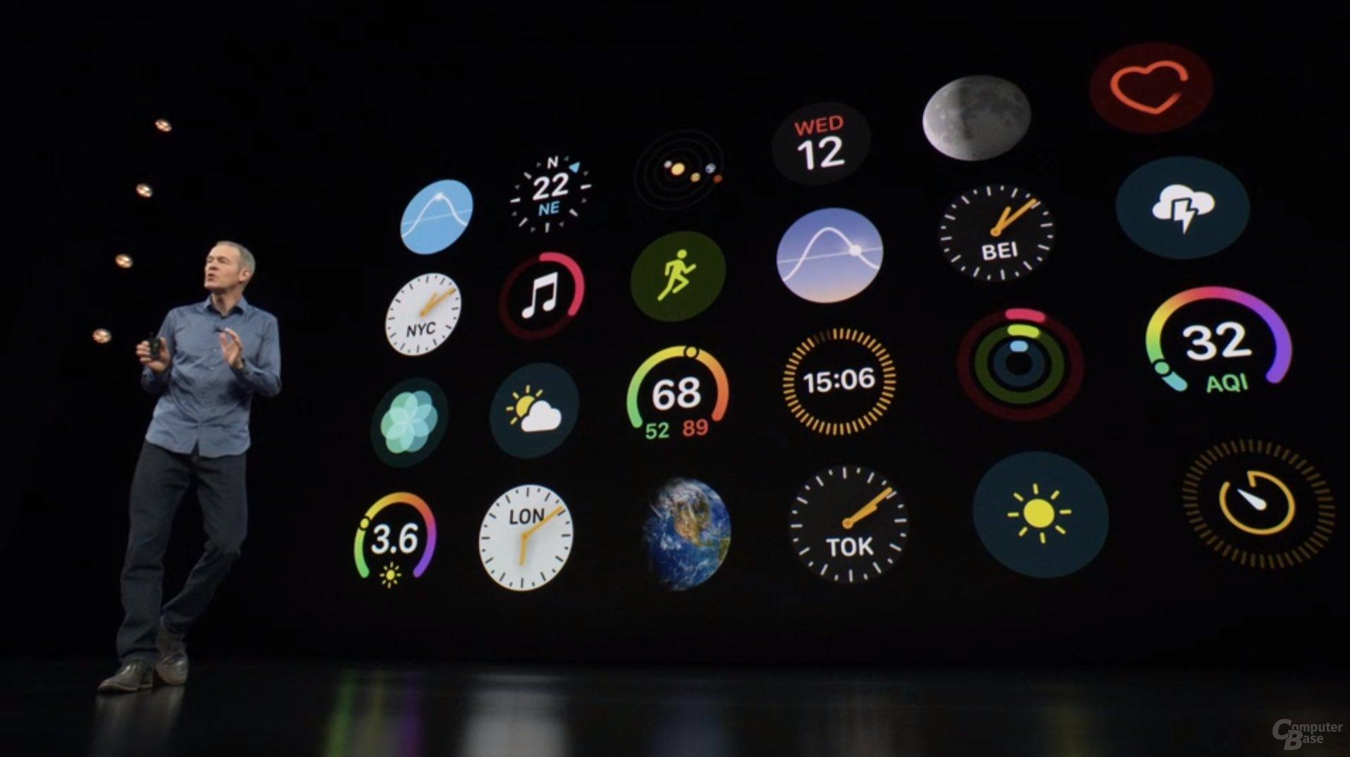 Apple Watch Series 4 – Neues UI für neue Displays