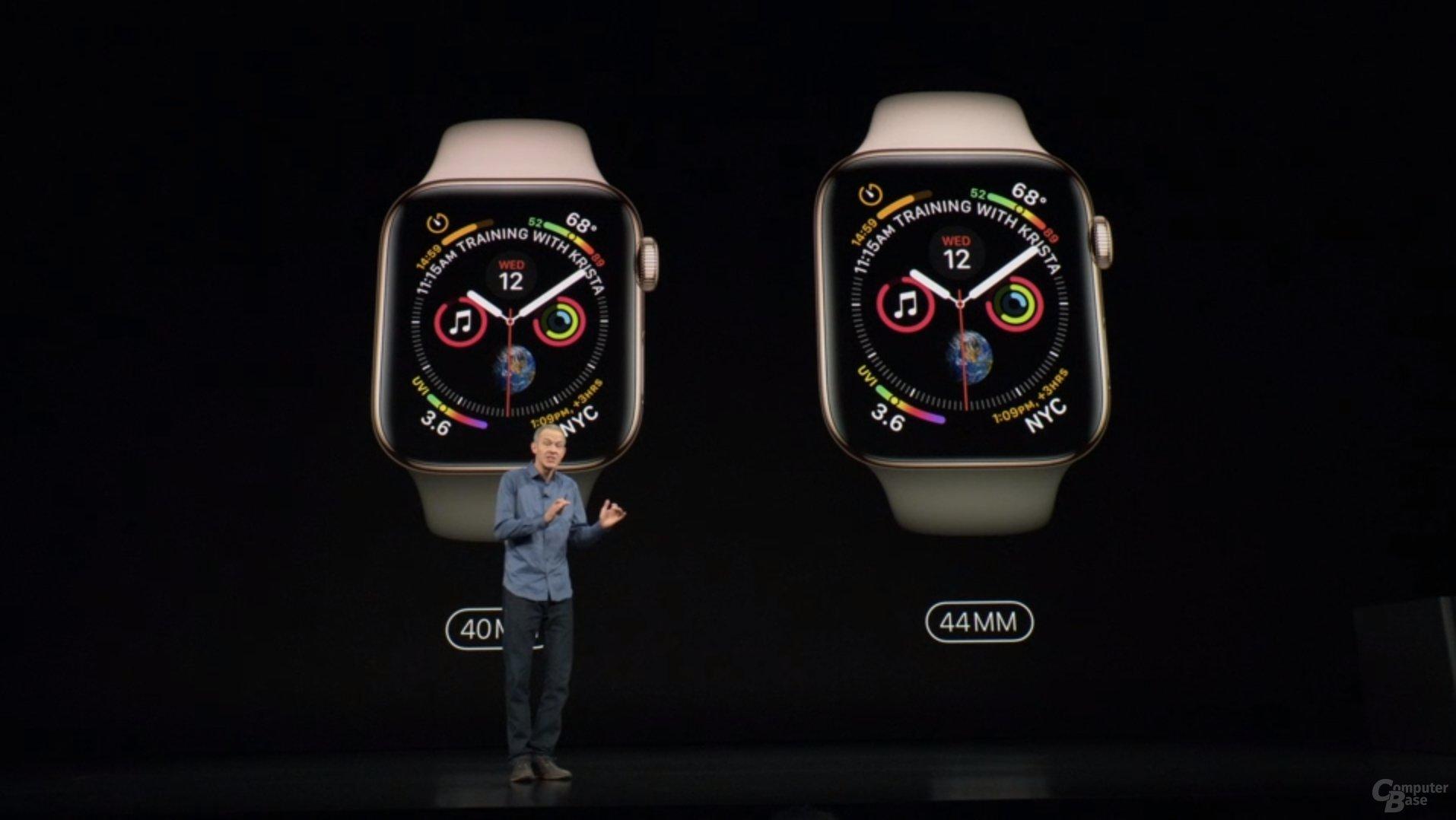 Apple Watch Series 4 – Jetzt in 40 und 44 mm