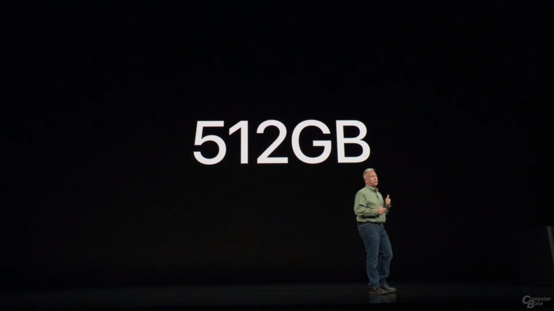 Apple iPhone Xs & Xs Max – Neue Speicheroption mit 512 GB