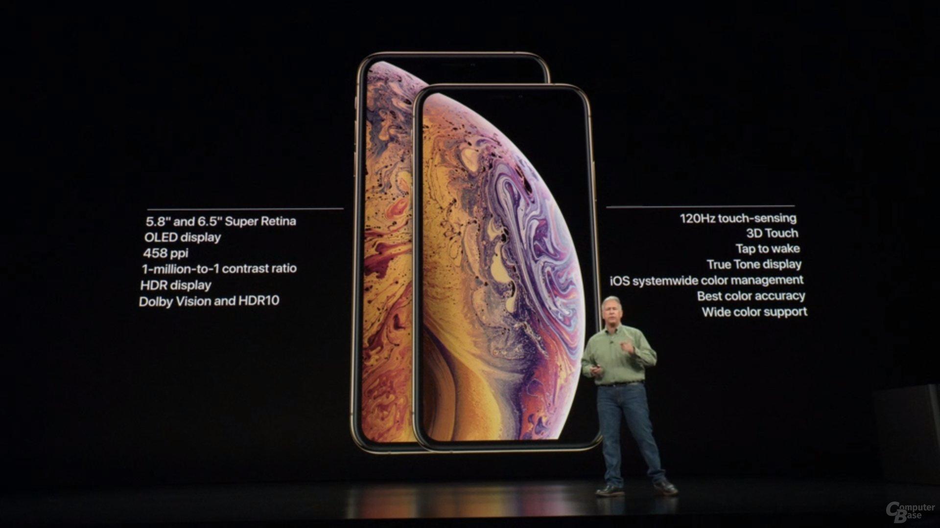 Apple iPhone Xs & Xs Max – Displays mit 5,8 und 6,5 Zoll