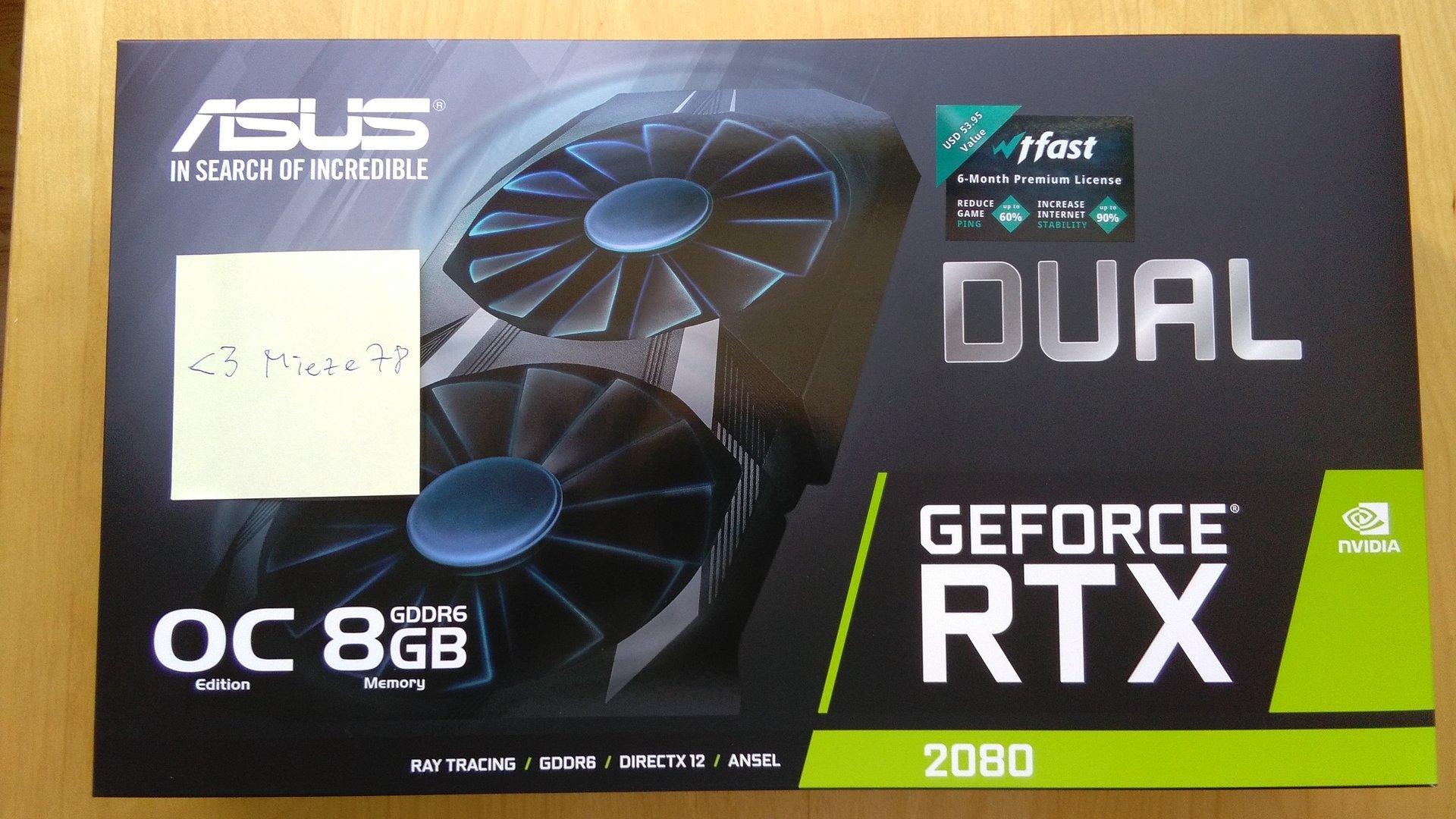 ComputerBase-Leser mieze78 hat seine GeForce RTX 2080 schon