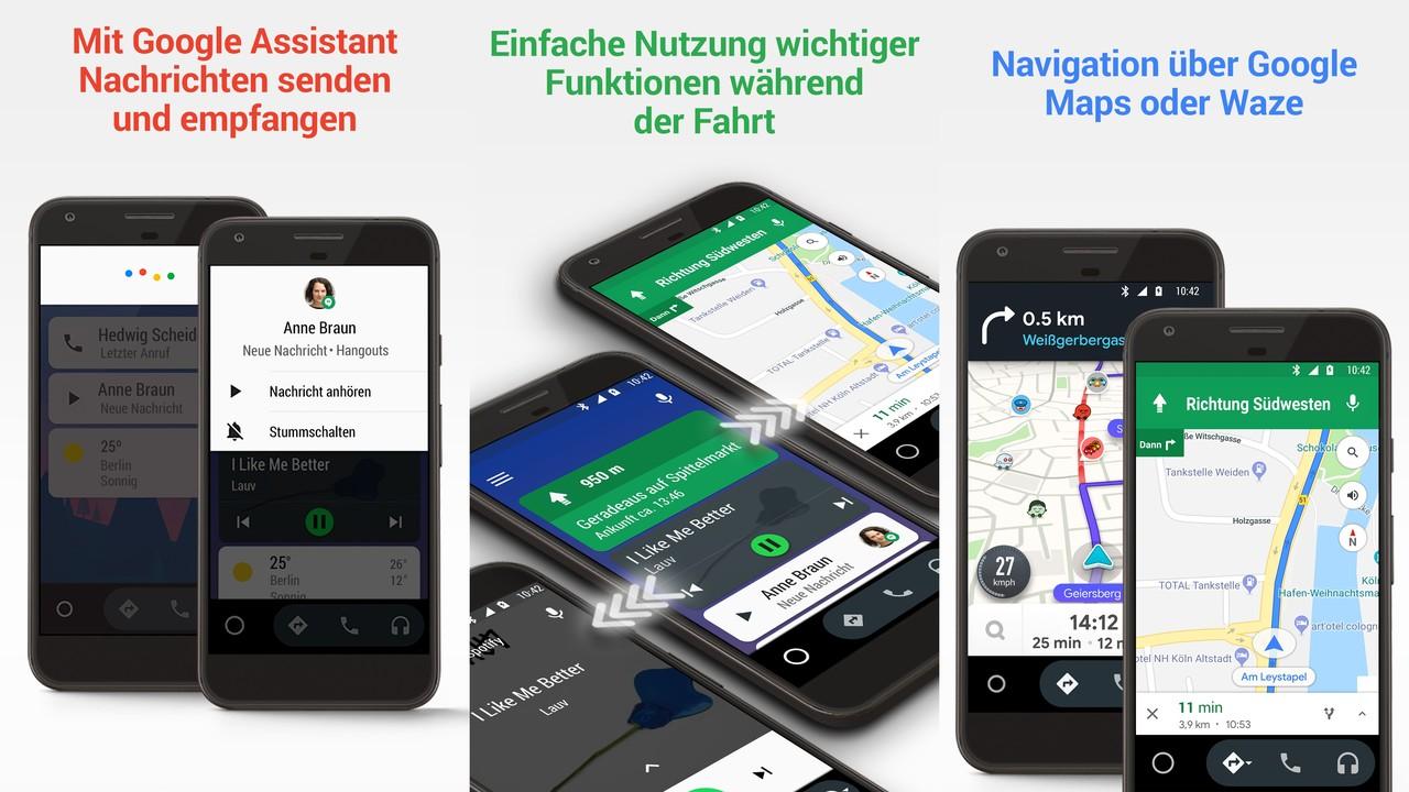 Android Auto: Google Assistant in Deutschland verfügbar