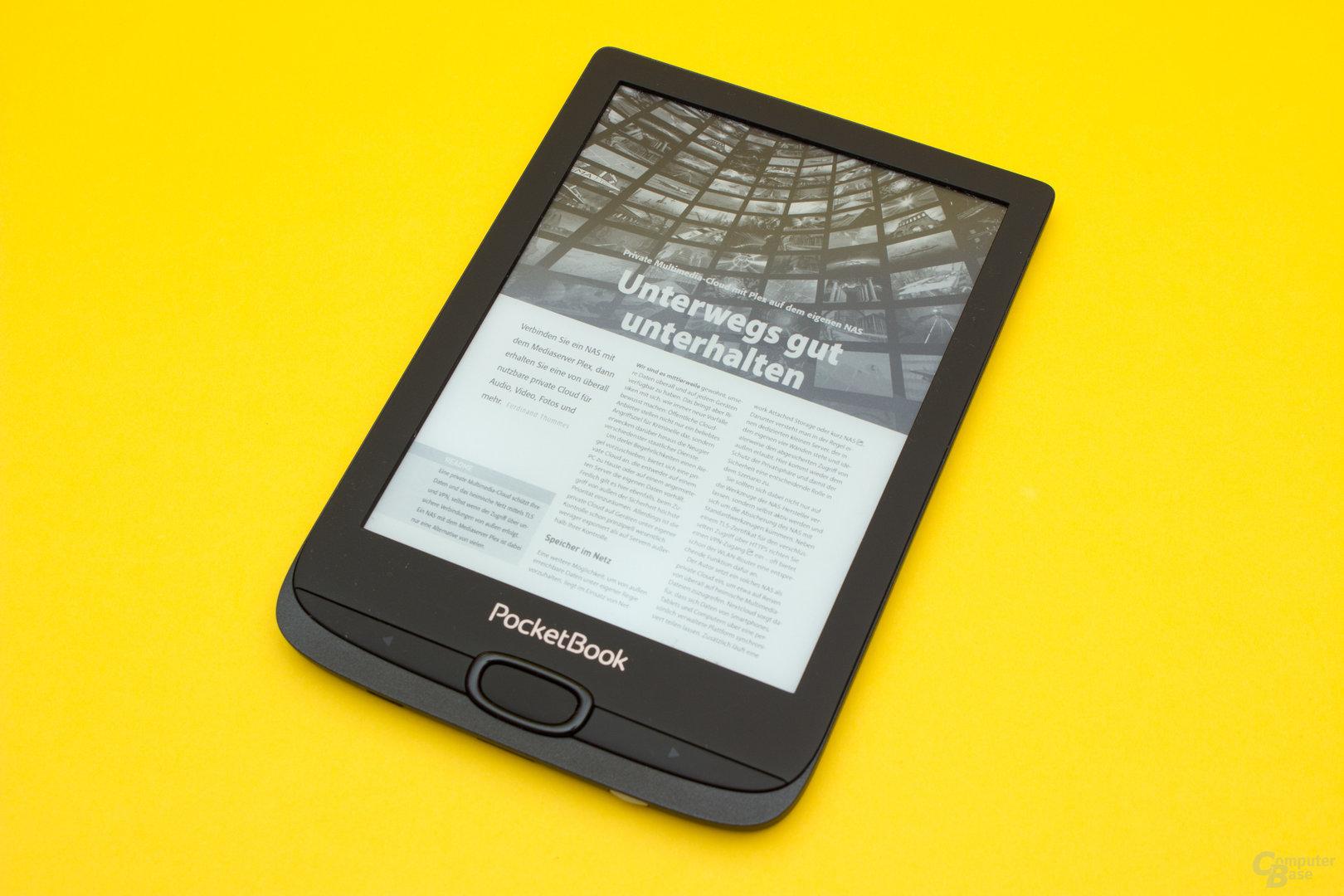 Der PocketBook Basic Lux 2 verfügt über eine exzellente PDF-Darstellung, wenn das Display nicht so klein wäre
