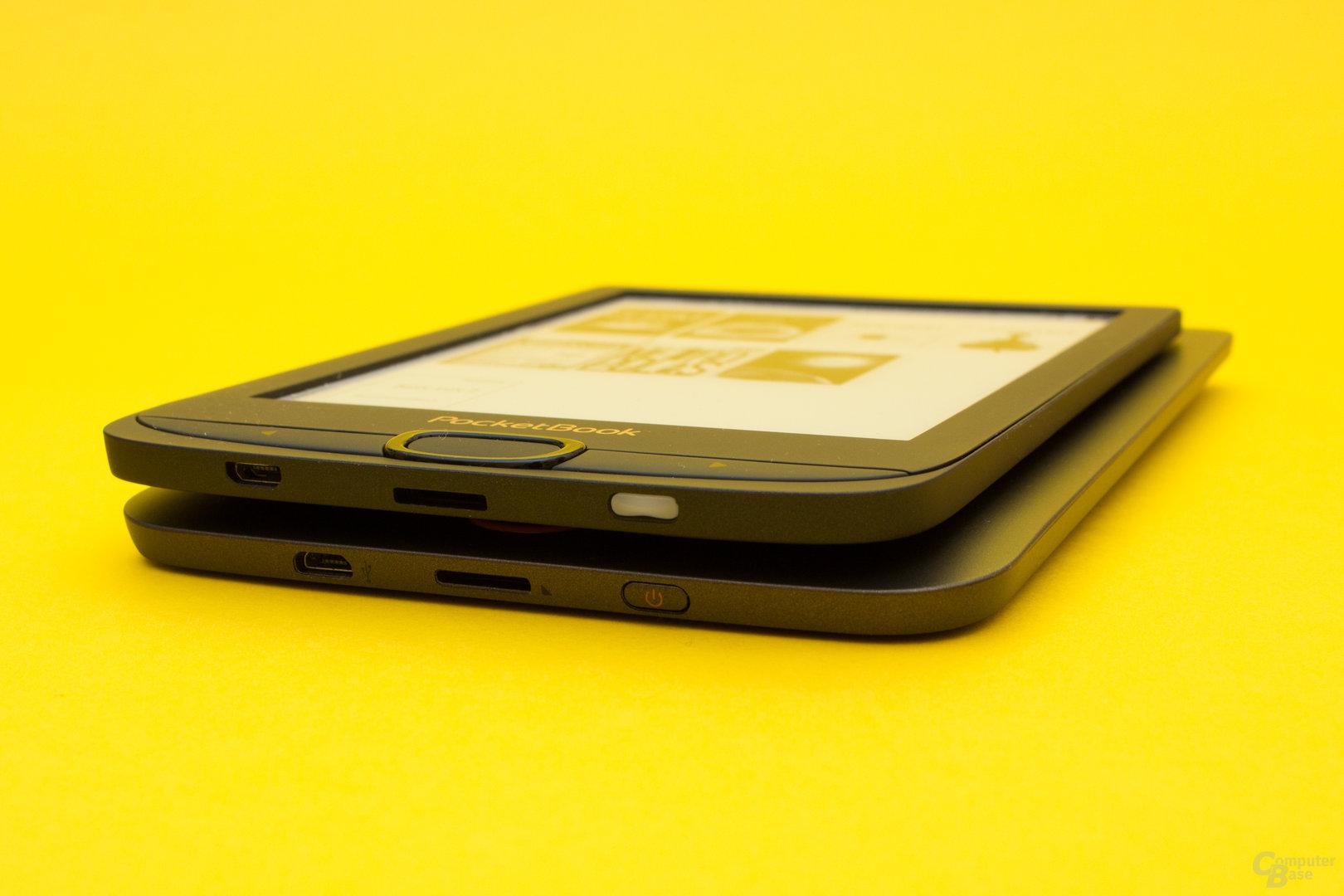 Größenvergleich zwischen PocketBook Basic Lux 1 und 2