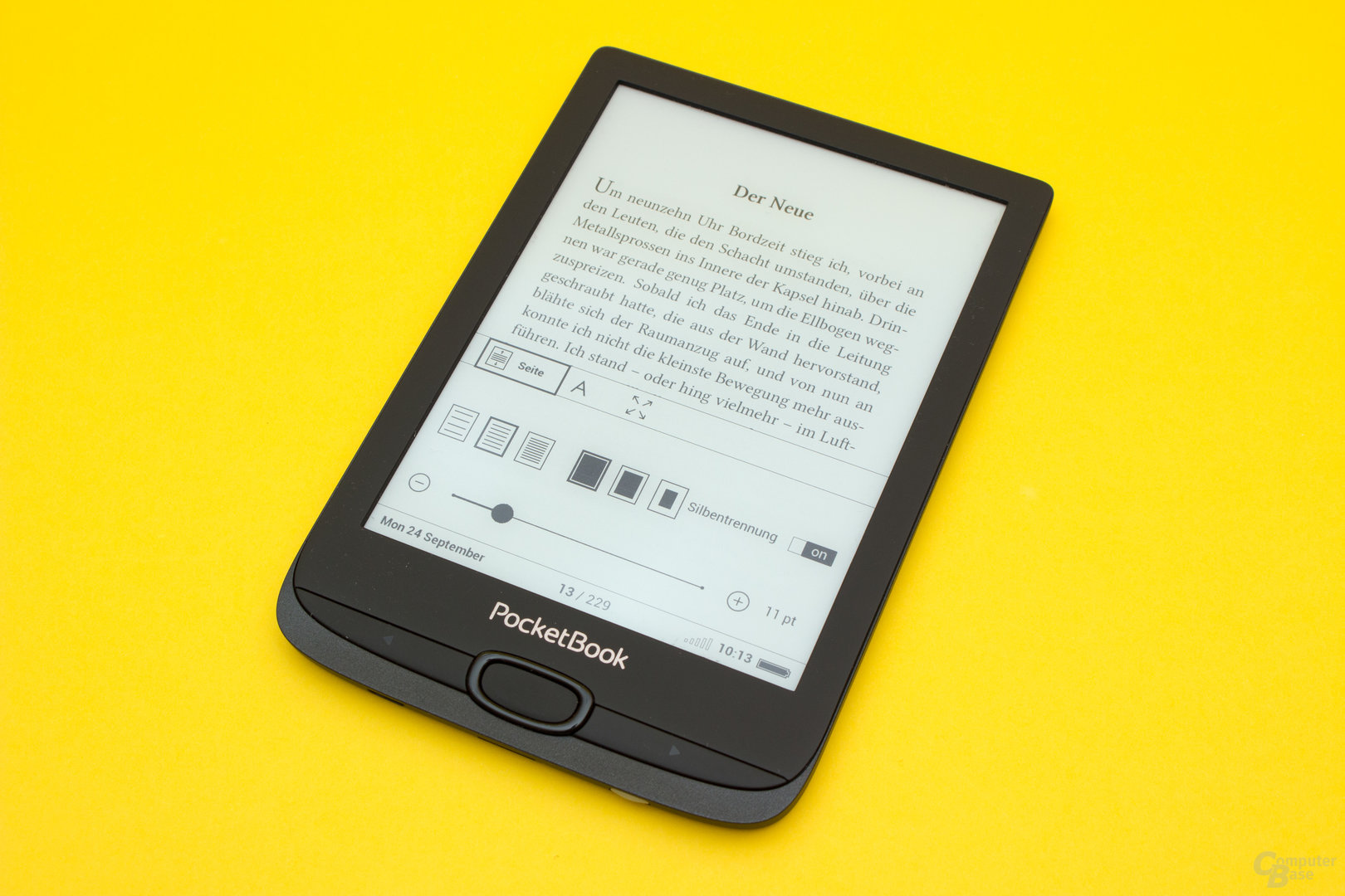 Schrifteinstellungen beim PocketBook Basic Lux 2