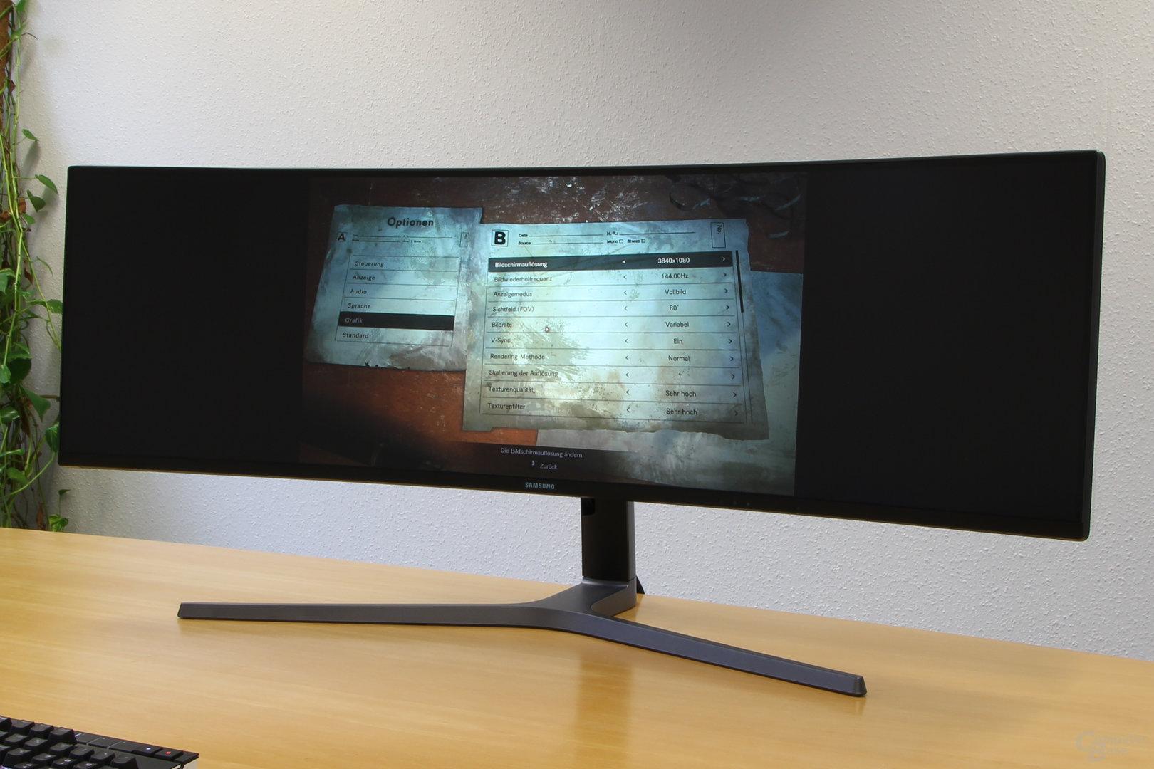 Samsung C49HG90 – Resident Evil 7 ignoriert 32:9