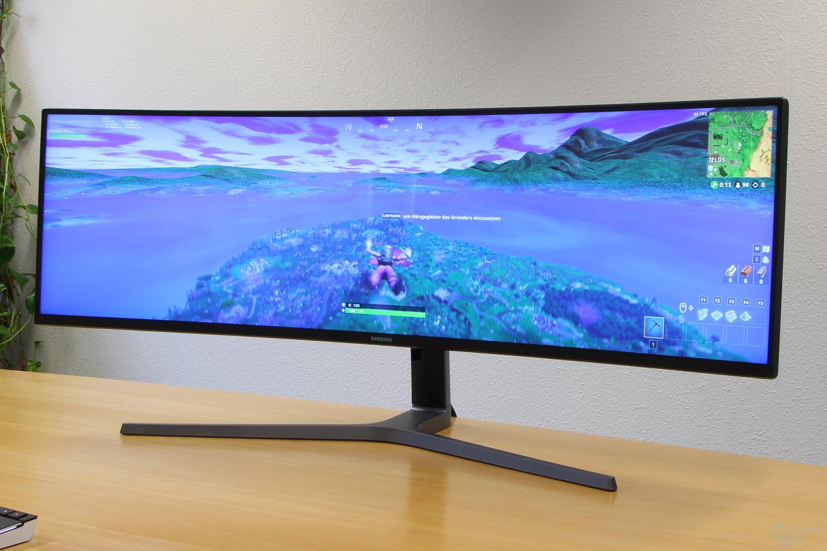 Samsung C49HG90 – 32:9 ist für Fortnite kein Problem