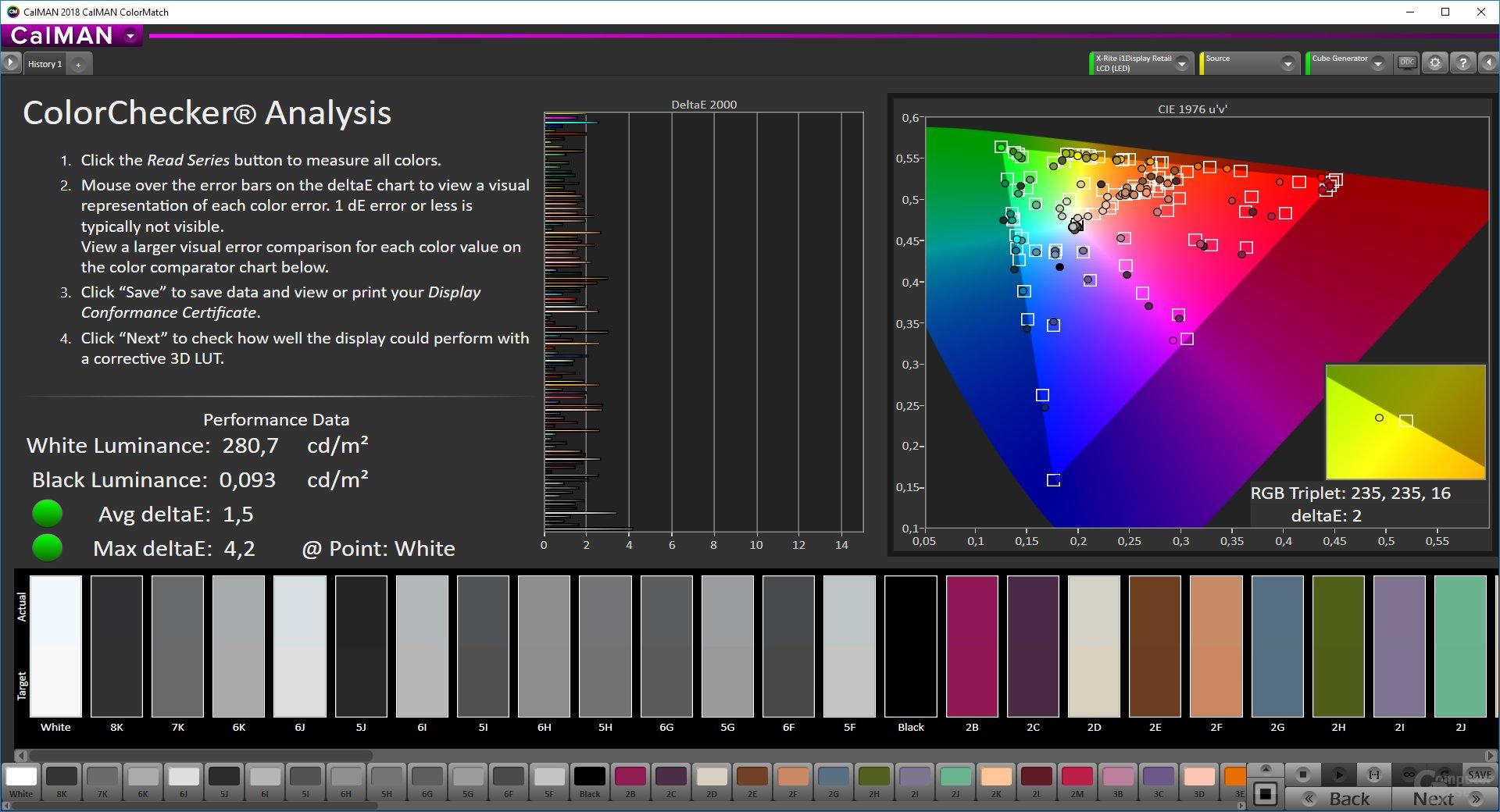Samsung CHG90 – ColorMatch-Testergebnis mit neuer Firmware