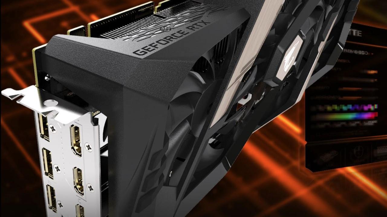 Gigabyte Aorus Xtreme: RTX 2080 mit 7 Ausgängen und drei 100-mm-Lüftern