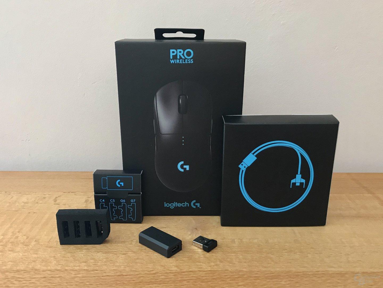 Lieferumfang der G Pro Wireless