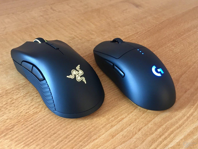 Beide Mäuse beleuchten das Herstellerlogo