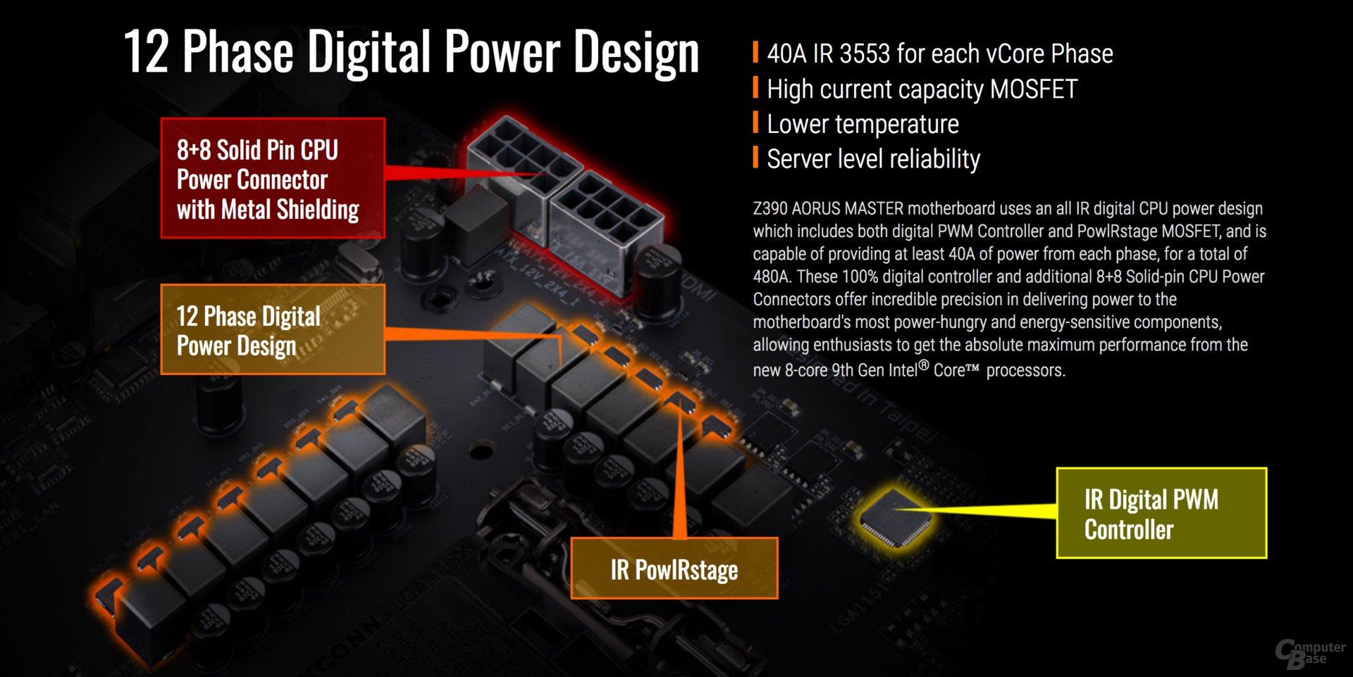 Stromversorung beim Gigabyte Z390 Aorus Master