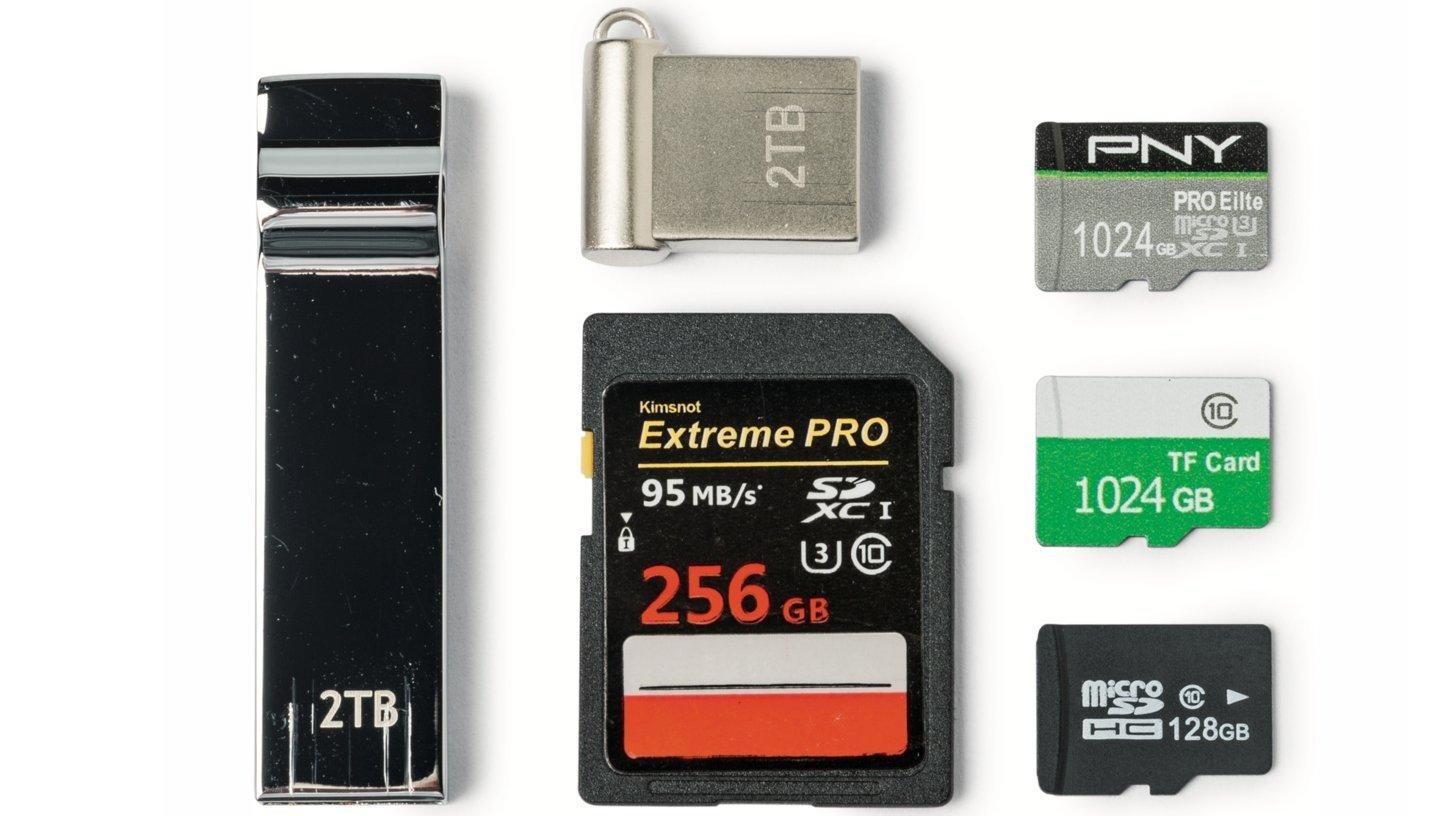 Gefälschte USB-Sticks und Speicherkarten, bestellt über Wish.com
