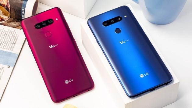 LG V40 ThinQ: Smartphone mit fünf Kameras und 6,4-Zoll-Display