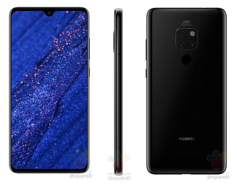 Huawei Mate 20 (Front, Seite, Rückseite)