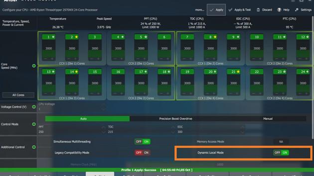 Dynamic Local Mode: Neuer NUMA-Modus für Threadripper 2990WX/2970WX