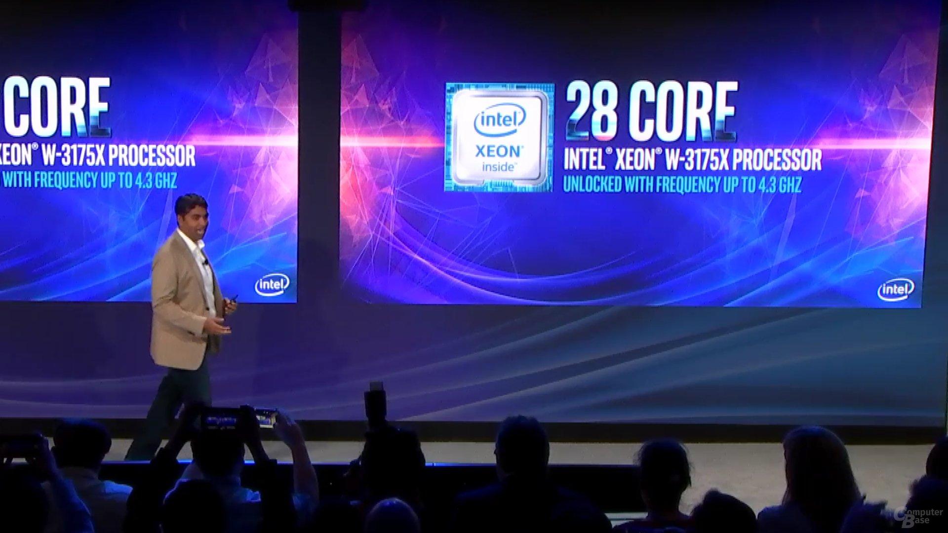 Xeon W-3175X mit 28 Kernen