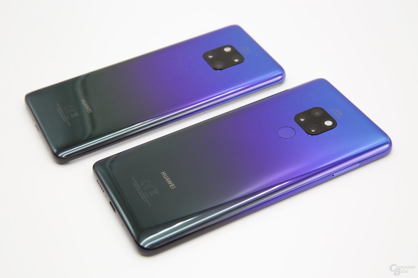 Huawei Mate 20 Pro neben Mate 20