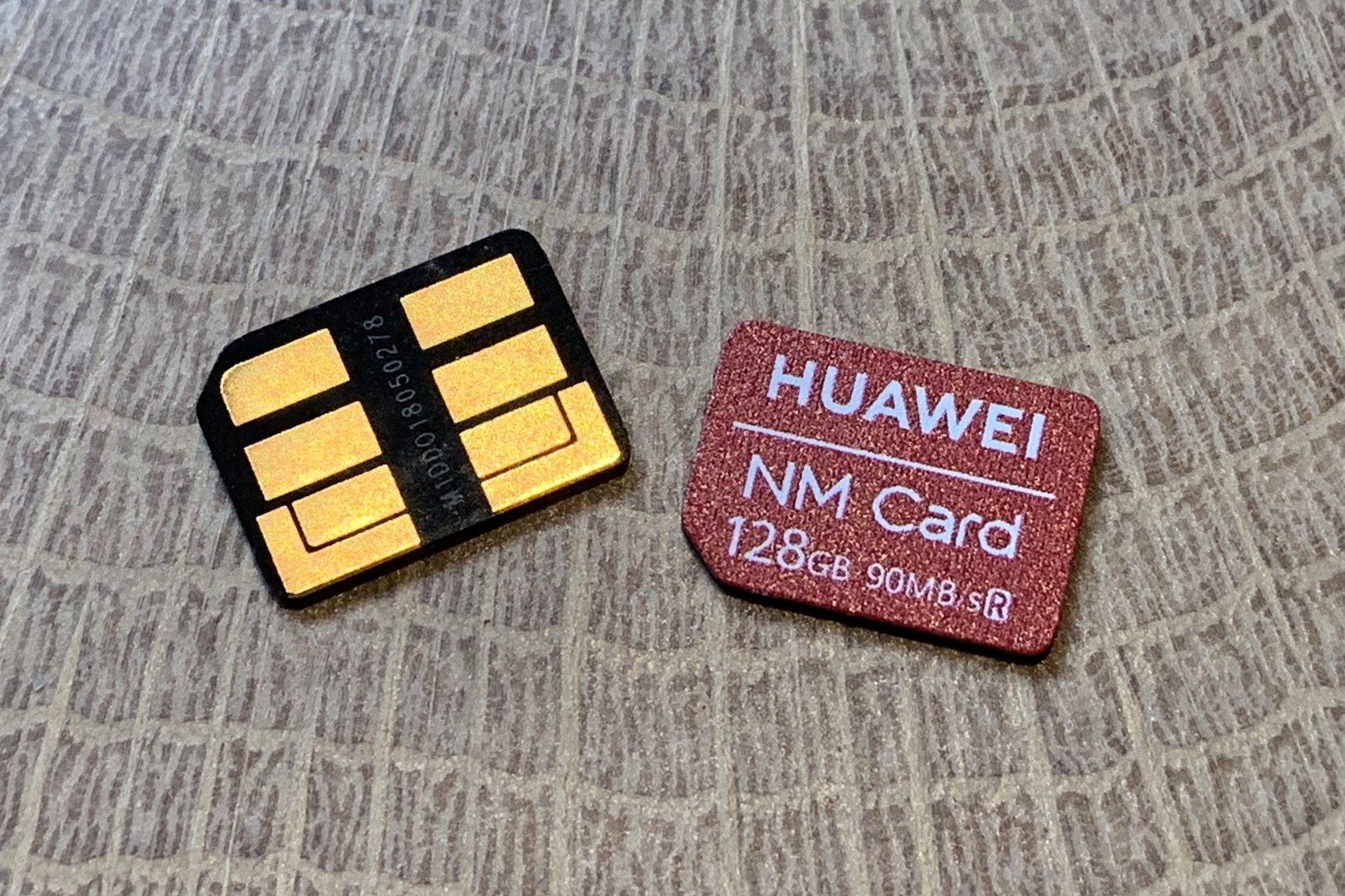 NanoSD-Karte von Huawei im Nano-SIM-Format