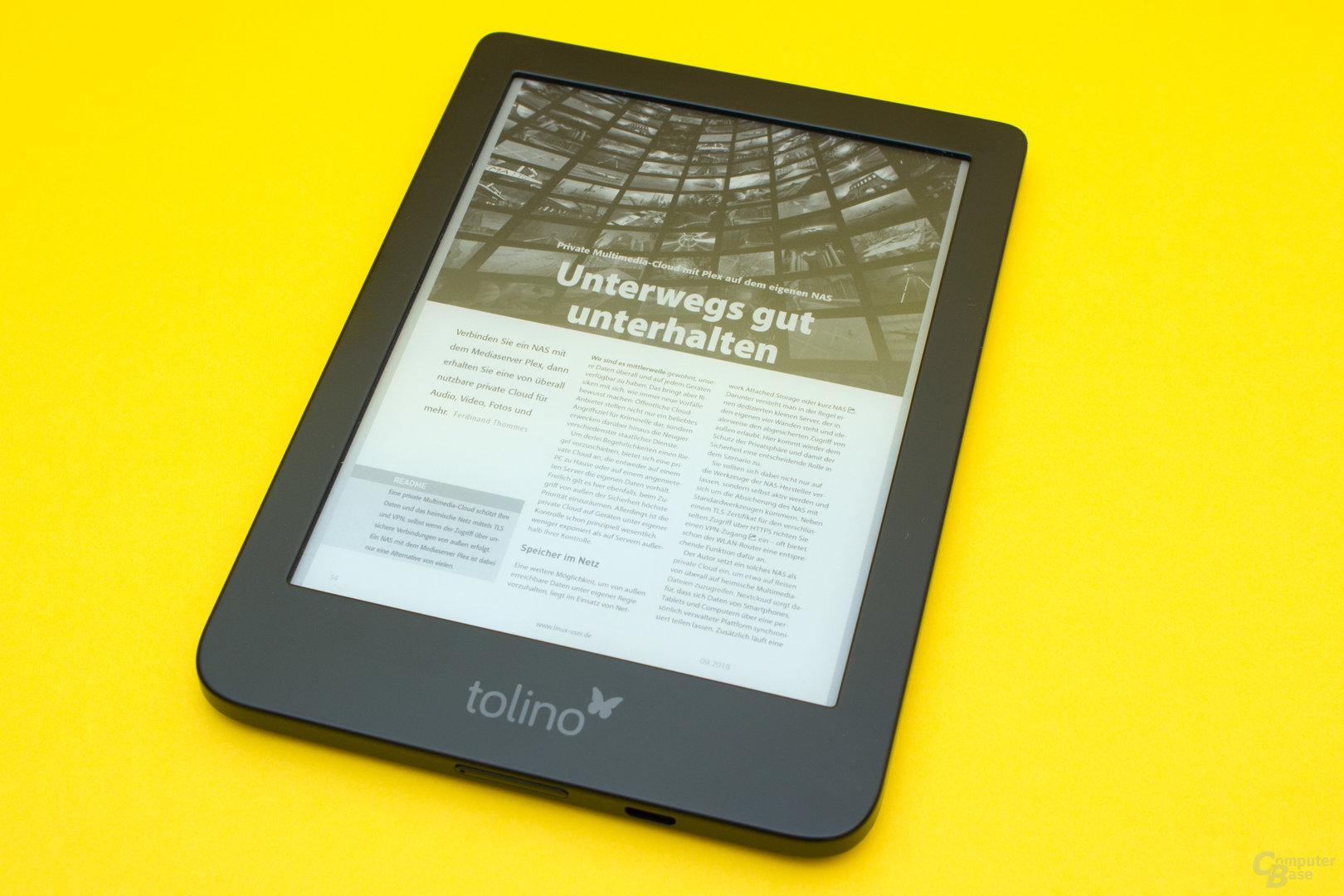 Nach wie vor schlechte PDF-Funktion beim Tolino Shine 3