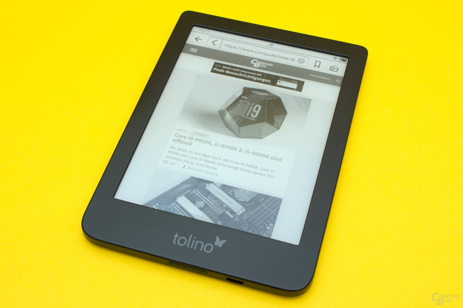 Der Tolino Shine 3 kann auch zum rudimentären Surfen verwendet werden