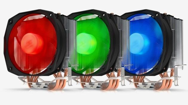 SilentiumPC Spartan 3 Pro RGB: Bunte Tower-Alternative zum Boxed-Kühler
