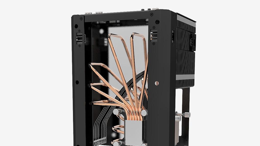 Monsterlabo The First: Mini-ITX-Gehäuse kühlt 8700K und GTX 1080 passiv