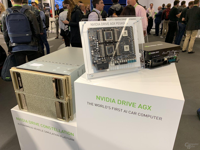Nvidia Drive Constellation neben Drive AGX Pegasus