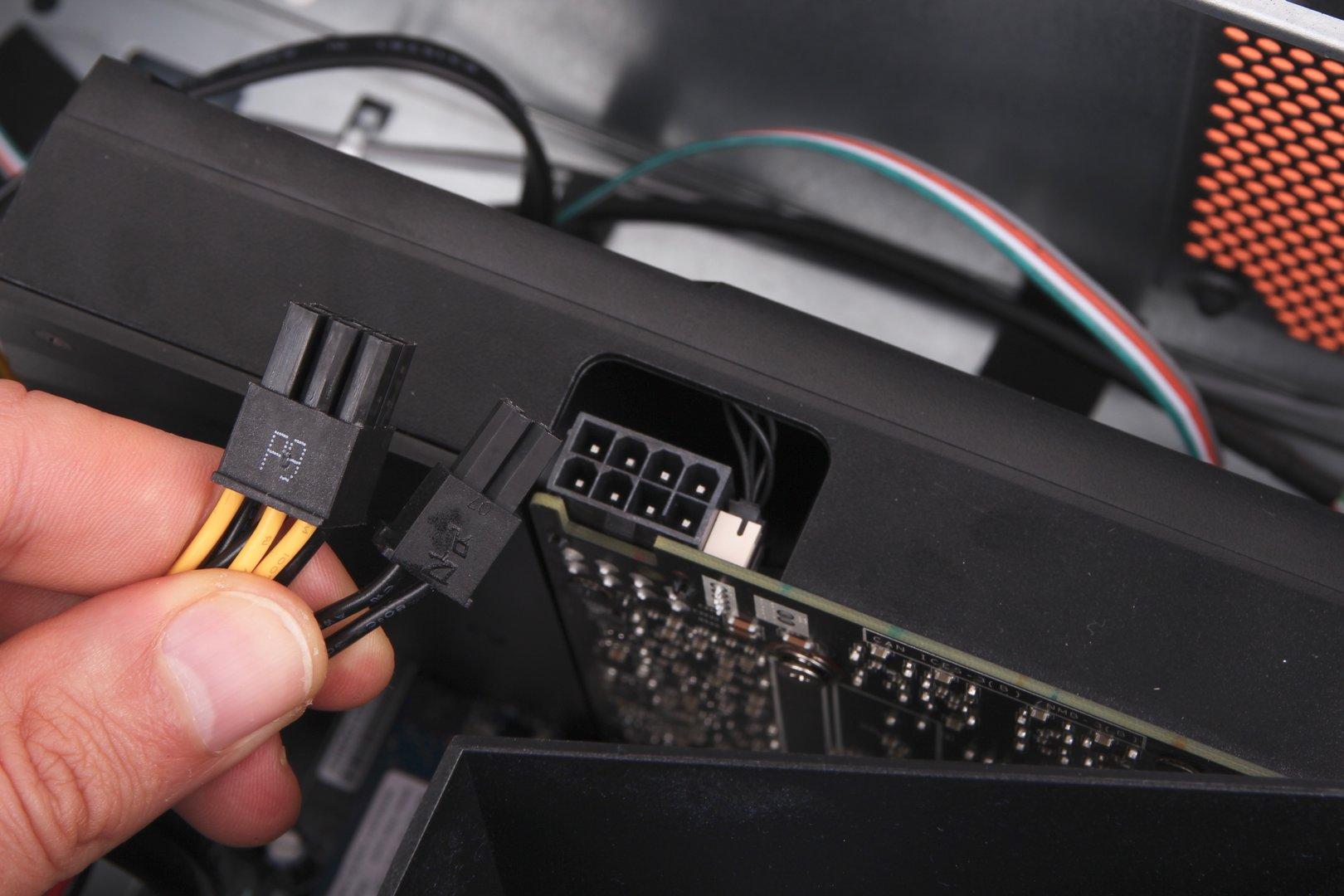 Dank 8-Pin-PCIe-Anschluss findet auch eine GeForce GTX 1070 Platz