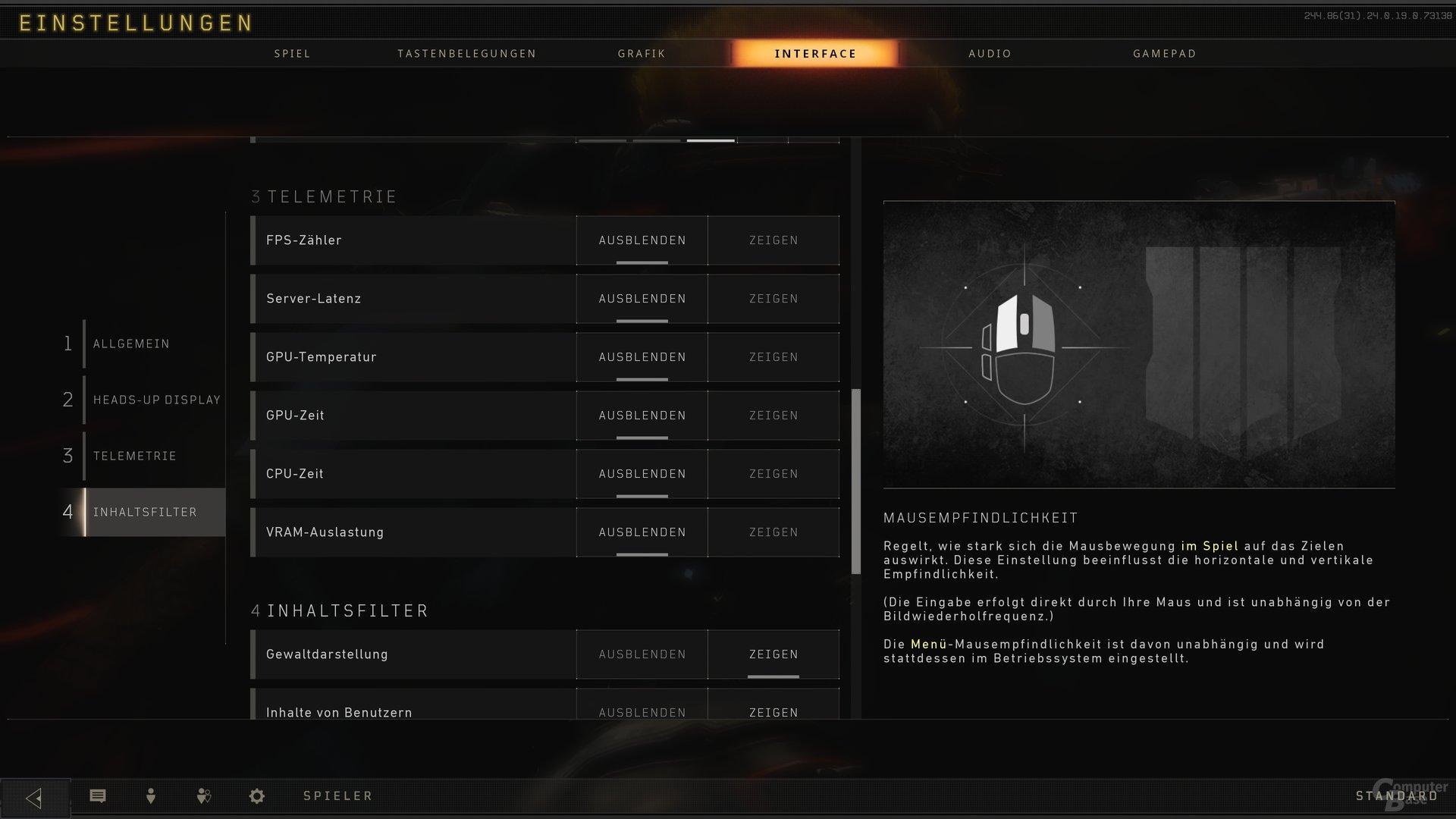 COD: Black Ops 4 – das integrierte Overlay