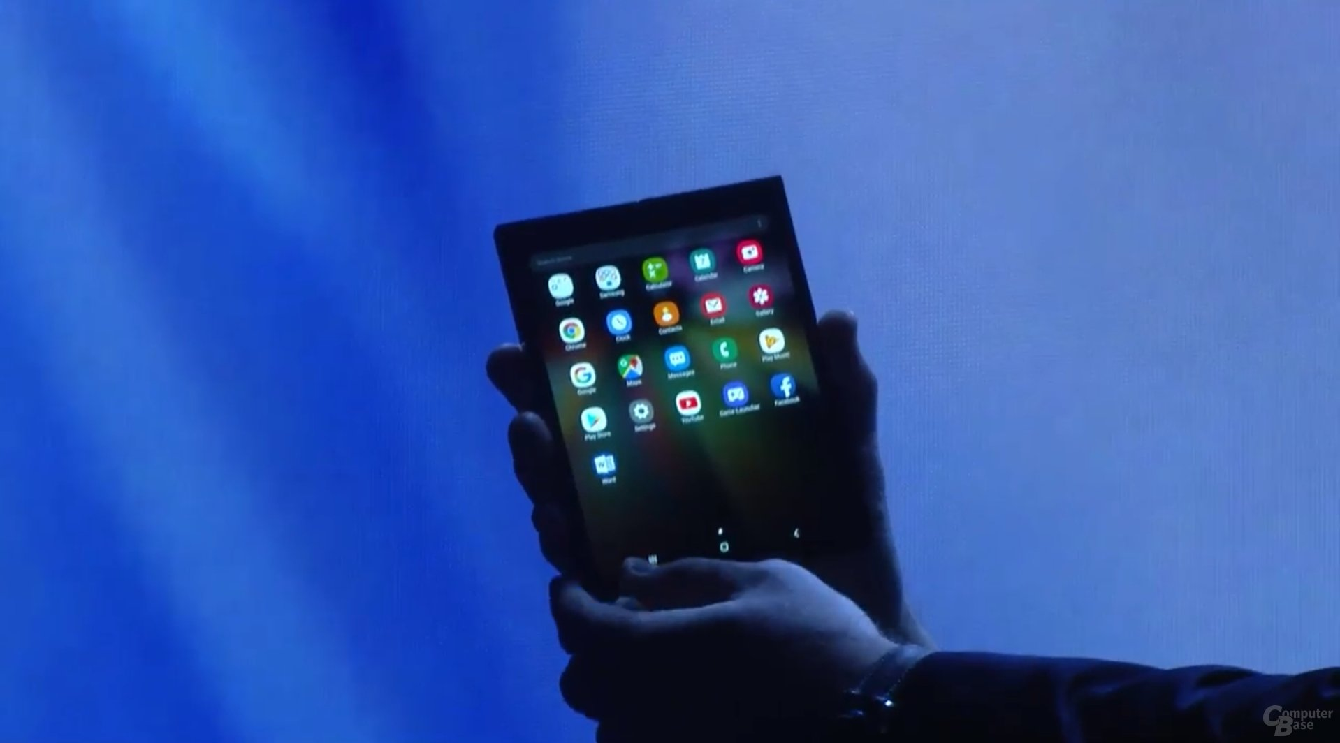 Prototyp des faltbaren Smartphones