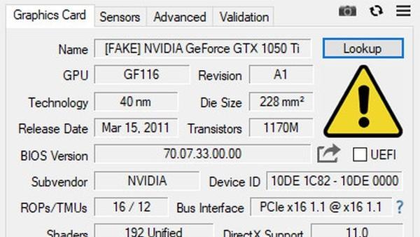 Fake Detection: Tool GPU-Z 2.12.0 erkennt gefälschte Grafikkarten