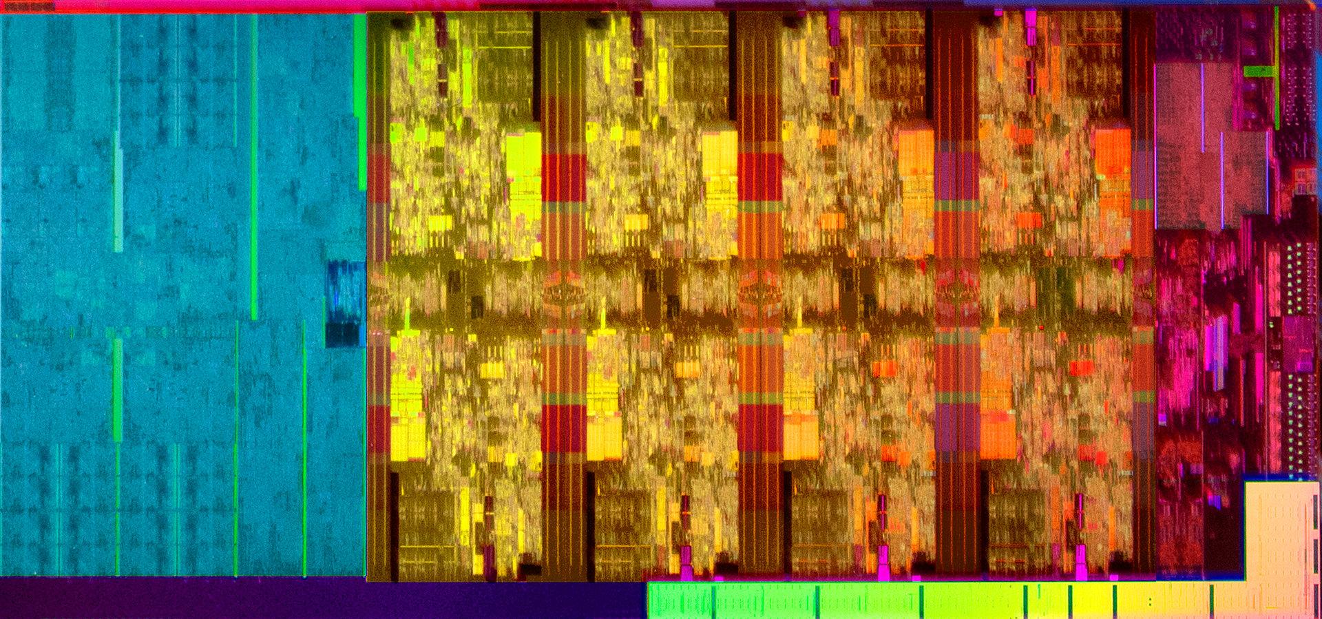 Coffee Lake Refresh: GT2-Grafik links, acht Kerne + Cache, Uncore rechts