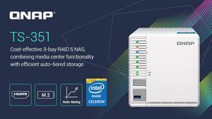 QNAP TS-351: RAID‑5‑NAS mit Celeron aus dem Jahr 2013 und M.2