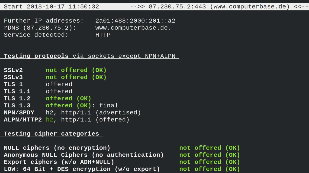In eigener Sache: ComputerBase nutzt TLS1.3, ECDSA und Let's Encrypt