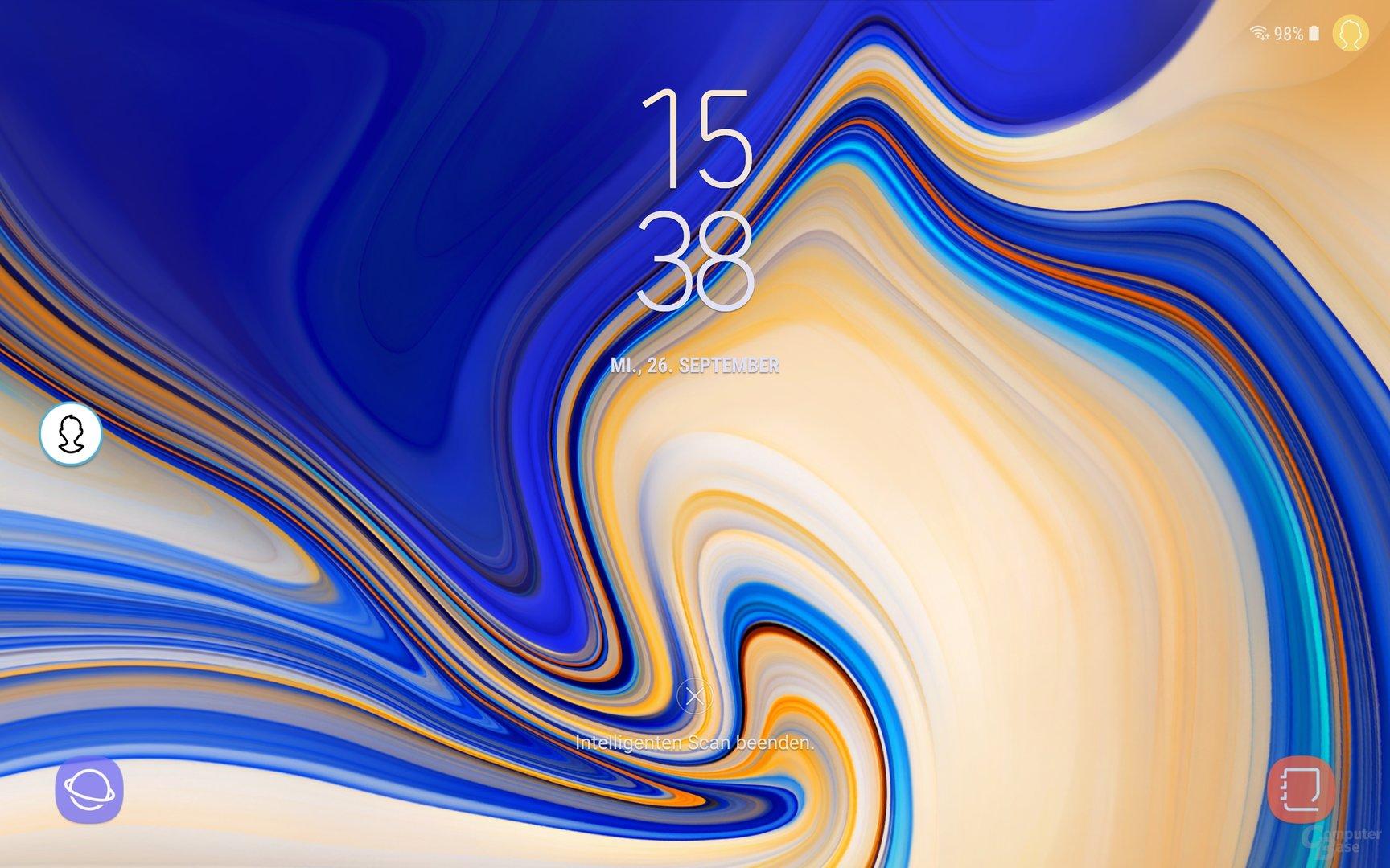 Lockscreen beim Samsung Galaxy Tab S4