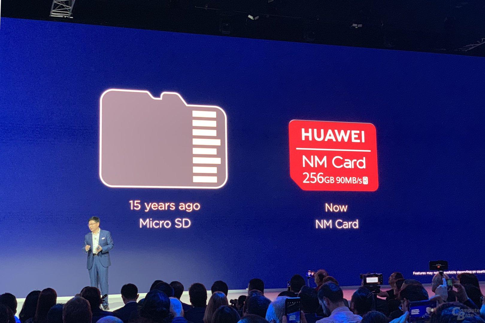 Nano Memory Card im Vergleich mit microSD-Karte